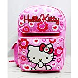Backpack - Hello Kitty - Pink Flower Bow Large Girls School Bag New 84017