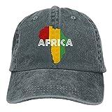 Africa Rasta On Black Dad Hat Adjustable Denim Hat Classic Baseball Cap