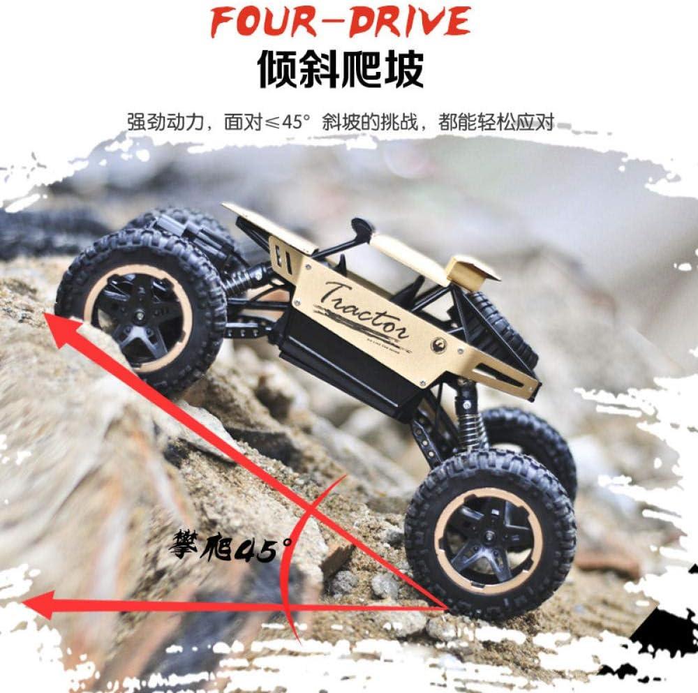 2.4G Grand Alliage Voiture d'escalade Bigfoot véhicule Hors Route 1:18 à Quatre Roues motrices Charge télécommande modèle de Jouet pour Enfants Golden