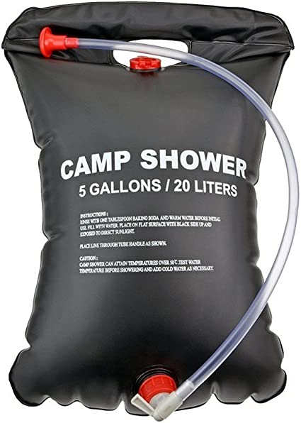 20L//40L Portable Solar Heating Water Shower Bag Outdoor Camp Bath Hanging Bag