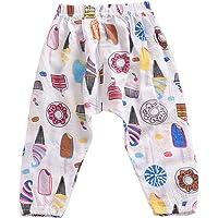 Weixinbuy Kid Girl's Floral Elasticized Waist Pull-on Pants Summer Bloomer Trouser Bottoms