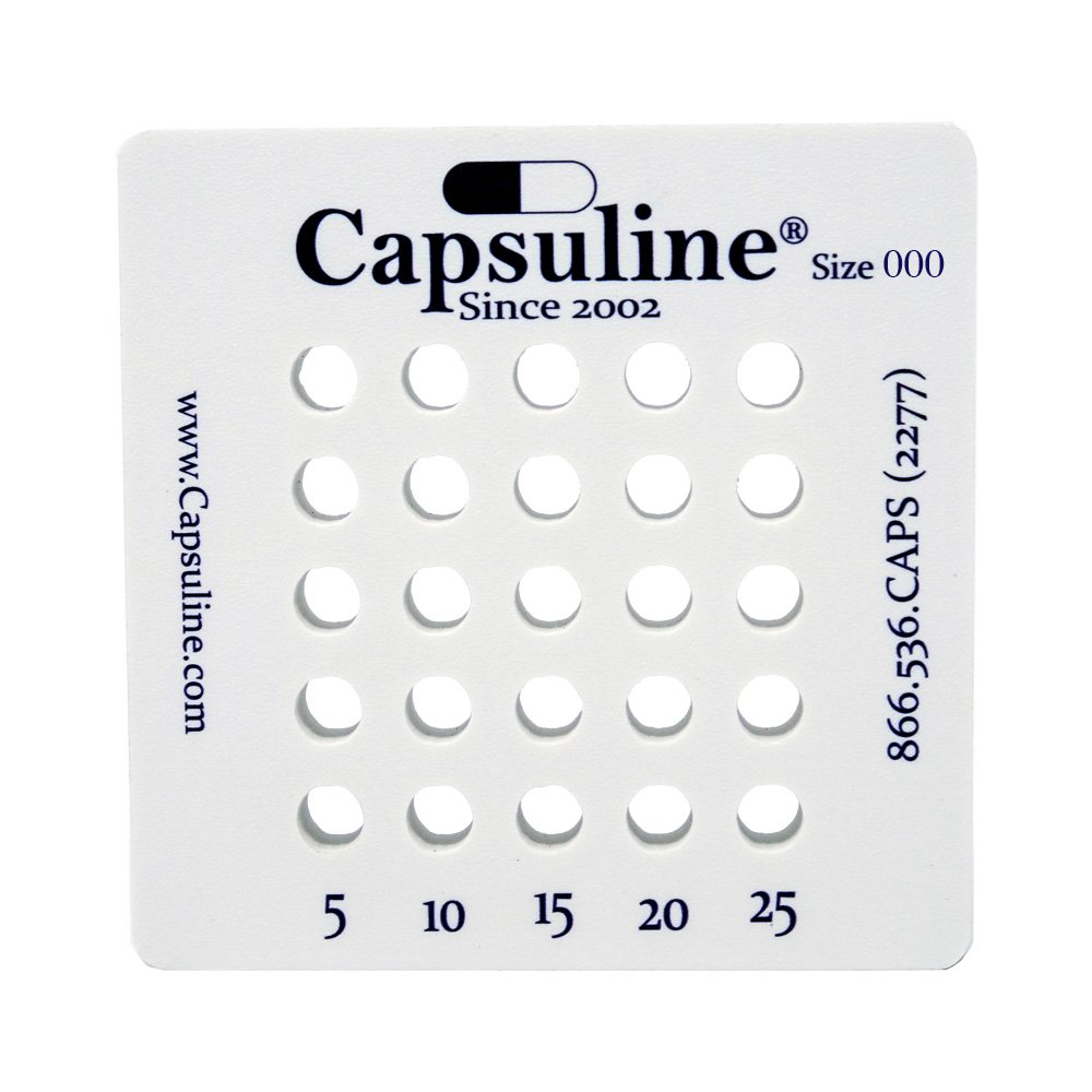 Holding Tray for size 000 capsules by Capsuline - 25 Count