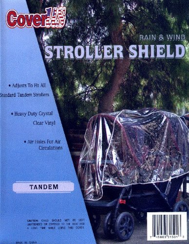 Crystal Clear Tandem Stroller Rain and Wind Shield (Double Front & Back Tandem)