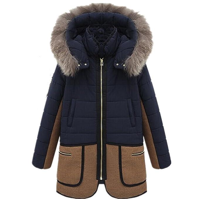 BOMOVO Estupendo abrigo tres cuartos de invierno de piel de cordero persa sintética para mujer en diversos estilos: Amazon.es: Ropa y accesorios