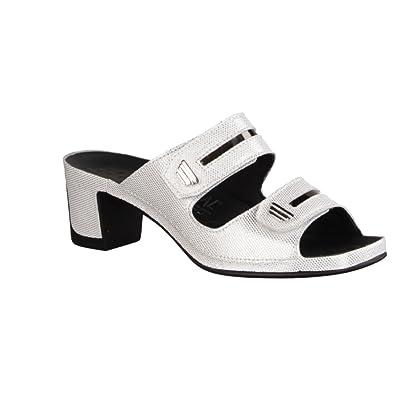 Vital Joy 05001-1601- Damenschuhe Pantolette/Zehentrenner, Weiß, Leder, Absatzhöhe: 50 mm