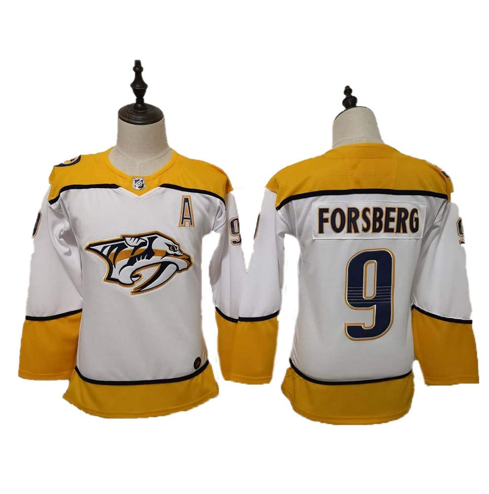 Yajun Filip Forsberg#9 Nashville Predators Maglie da Hockey su Ghiaccio NHL Uomo Hockey Jersey Felpe Traspirante T-Shirt Sportswears