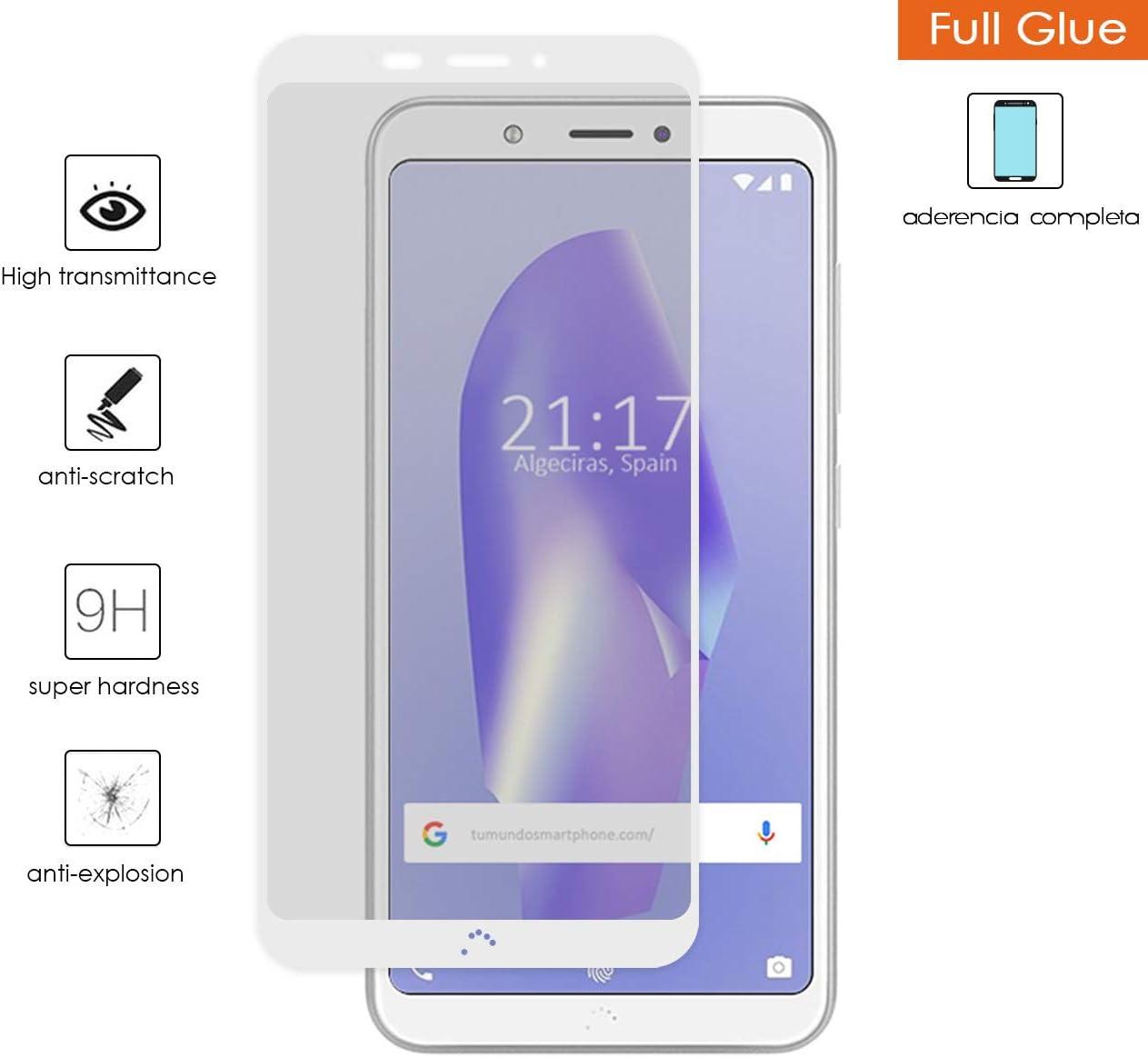 Tumundosmartphone Protector Cristal Templado Completo Full Glue ...