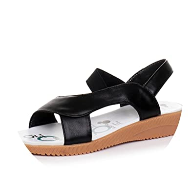 5576ac0584a4b GKTINOO 2018 Genuine Leather Women Sandals Fashion Summer Sweet Women Flats  Heel Sandals Ladies Shoes Plus