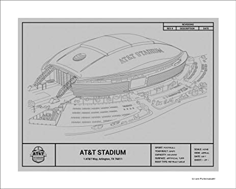 Amazon dallas cowboys att stadium blueprint art gift posters dallas cowboys att stadium blueprint art gift malvernweather Images