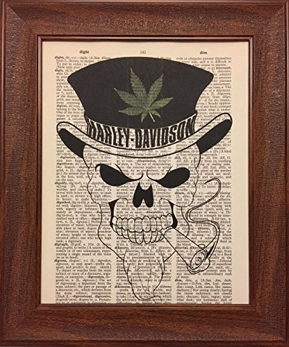 Harley Davidson Encyclopedia Book Page Artwork Print Picture Poster Home Office Bedroom Nursery Kitchen Wall Decor - unframed