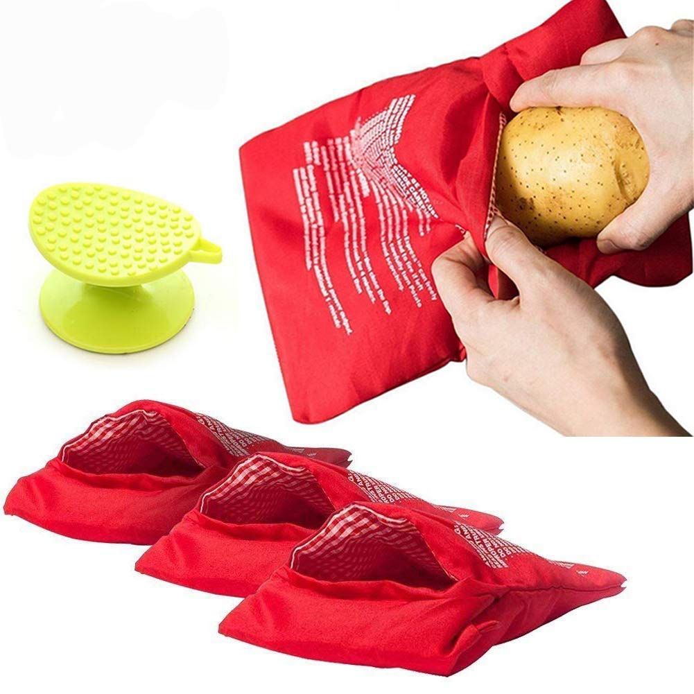 Microwave Potato Pouch Cooker Bag Red Potato Express Pouch in Just 4 Minutes Pack of 5