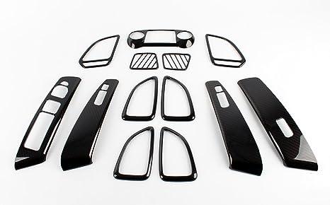 Accesorios para Hyundai ix35 (Modelo Facelift 2014 Carbon Interior Interior Molding Juego Tapacubos Tuning Carbono