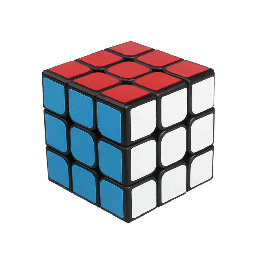 Yongjun 3x3x3 Magic Cube Rubiks Würfel Zauberwürfel Rubik's Cube Neu (3x3x3 Guanlon cube schwarz) YJ