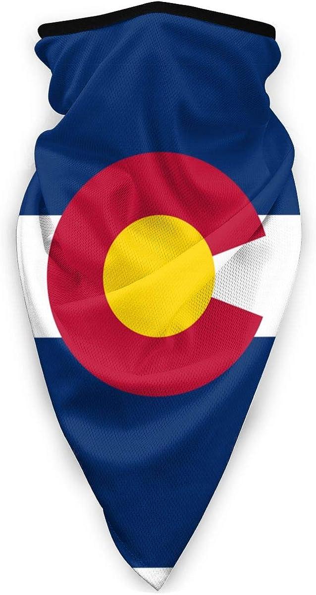 Colorado State Flag Outdoor Face Mouth Mask Windproof Sports Mask Ski Mask Shield Scarf Bandana Men Woman