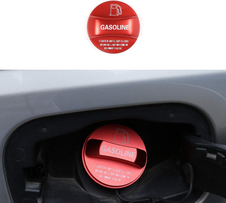ACAMPTAR Rivestimento Coperchio Tappo Serbatoio Carburante Auto nel Lega di Alluminio per Alfa Romeo Giulia Stelvio 2017-2020 Rosso