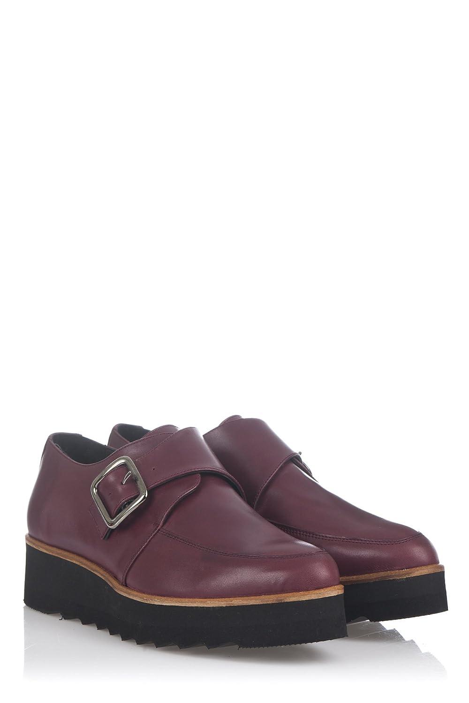 Laura Moretti Damen Bugy Shoes Schuhe39 EU|Burgunderrot