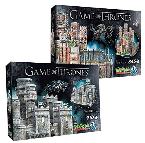 Wrebbit 3D Game of Thrones Collection Red Keep & Winterfell Combo Pack 3D Jigsaw Puzzle (1755 -