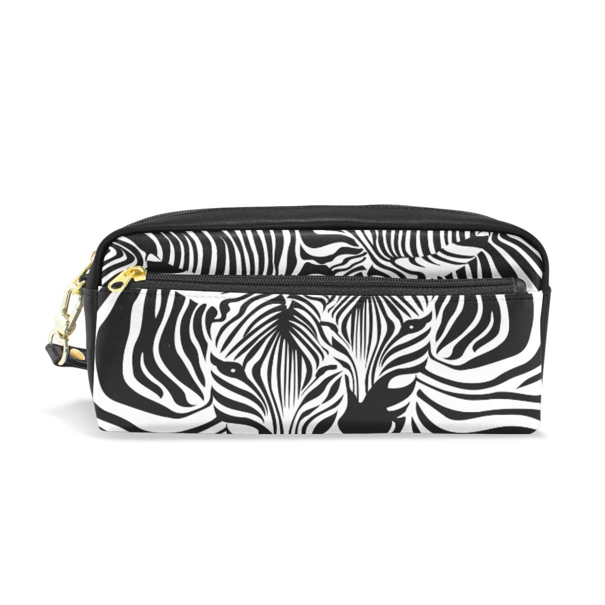 Pencil Case Big Capacity Pencil Bag Makeup Pen Pouch Animal Zebra Leopard Print Durable Students Stationery Pen Holder for School/Office