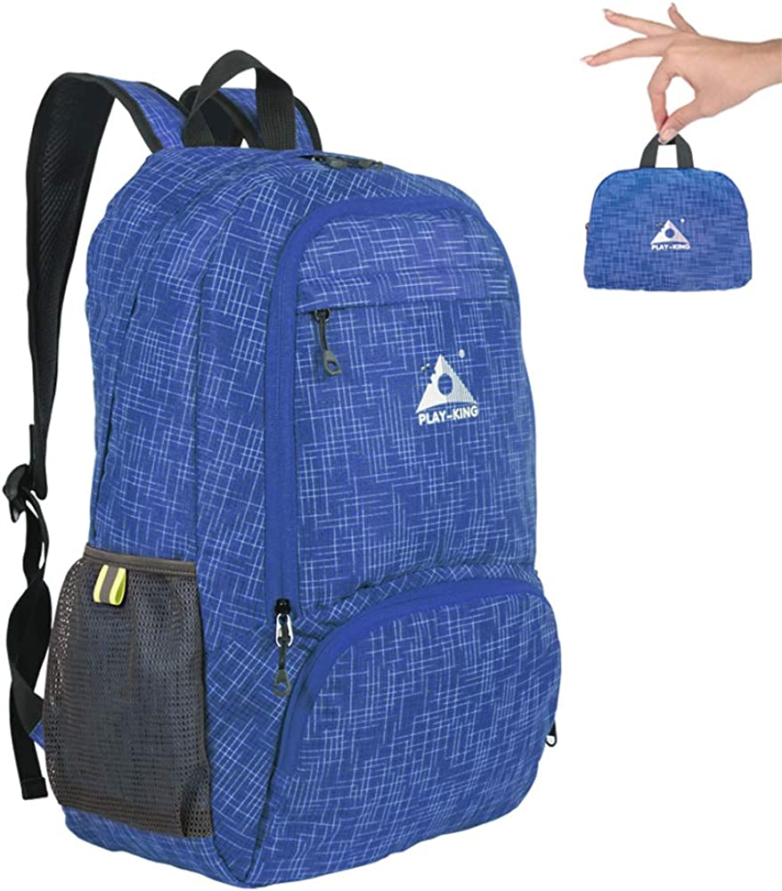 PLAY KING Emergency Foldable Waterproof Backpack for Shopping Travel or Hiking