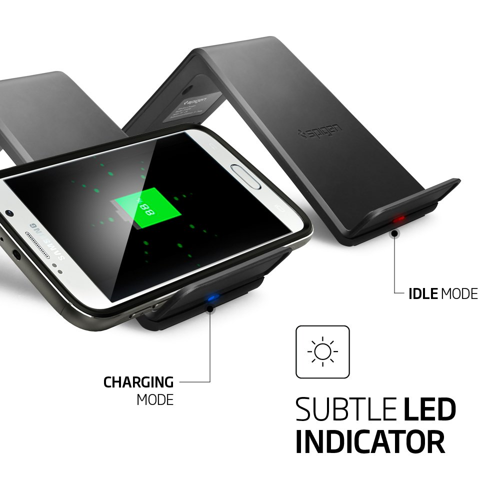 Spigen Essential F300w Wireless Charger Adapter Not Nexus 5 Circuit Diagram Included With Three Coils For Portrait Landscape Orientation Iphone X 8