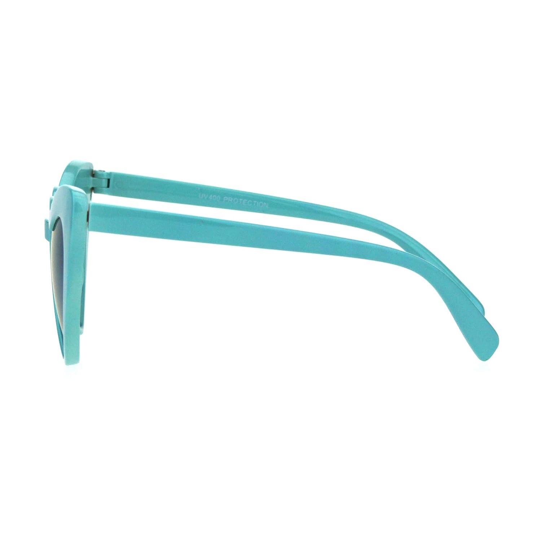 Details about  /Girl/'s Heart Shape Cateye Sunglasses Kids Fashion Mirrored Lens UV 400