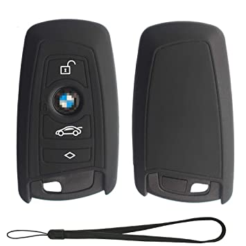 Soft Thin Matte Keyless Key Case Cover fit BMW F10 F20 F30 F13 F01 F25 3 or 4 buttons 1 3 4 5 7 series zorratin