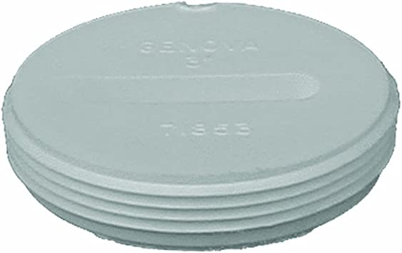 Genova Products 81815 ABS-DWV Treaded Plugs 1-1//2