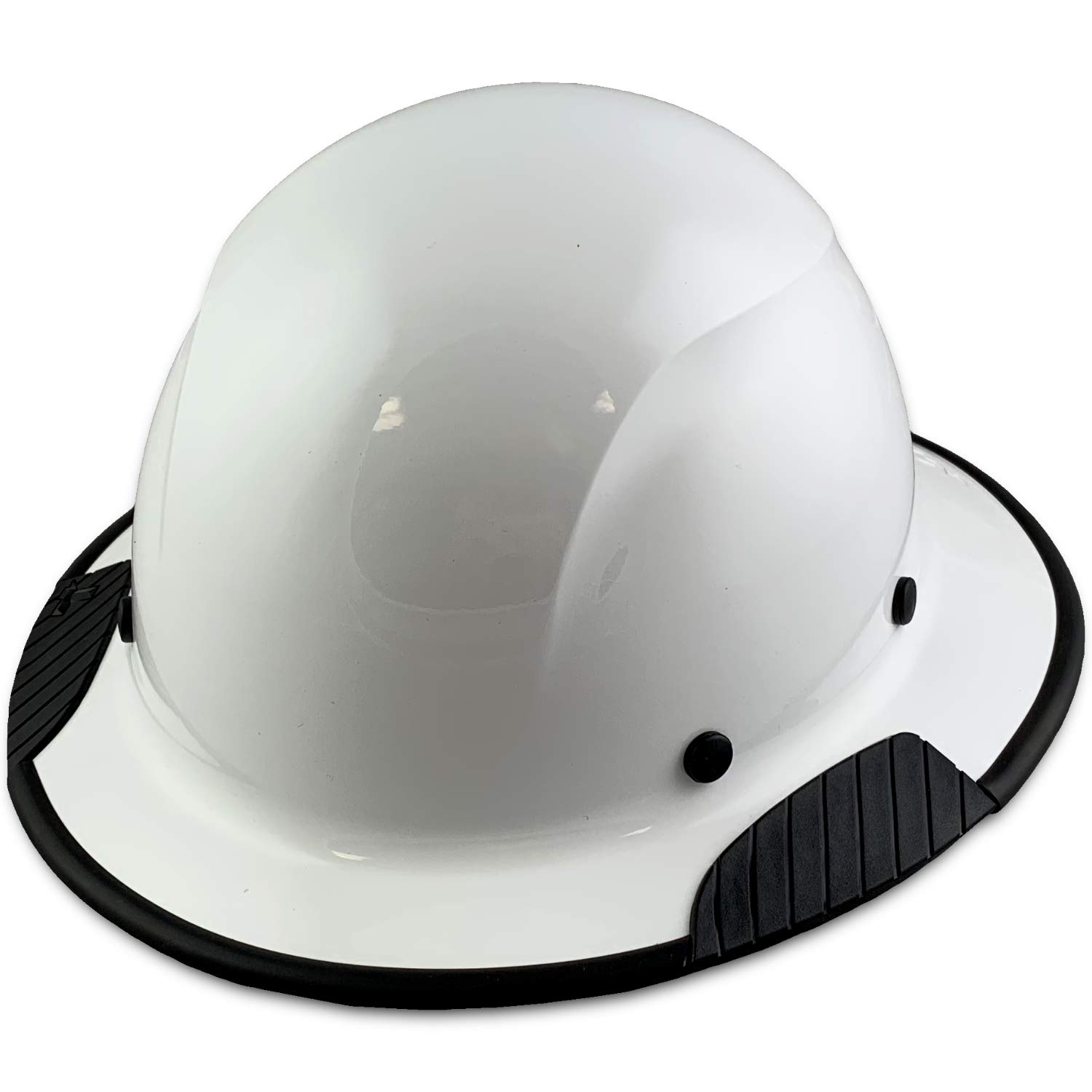 DAX Fiberglass Composite Hard Hat with Hard Hat Tote- Full Brim, White With Protective Edging