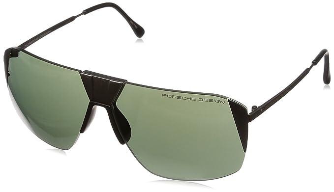 3b05b6e7475 Porsche Design Men s P8638 P 8638 B Gunmetal Square Sunglasses 66mm ...