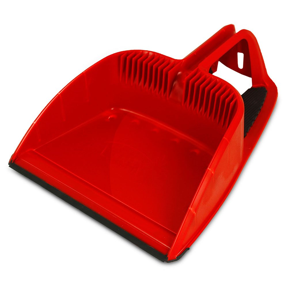 Libman Commercial 2125 Step-On Dustpan, Polypropylene, 12'' Wide, Red and Black (Pack of 4)