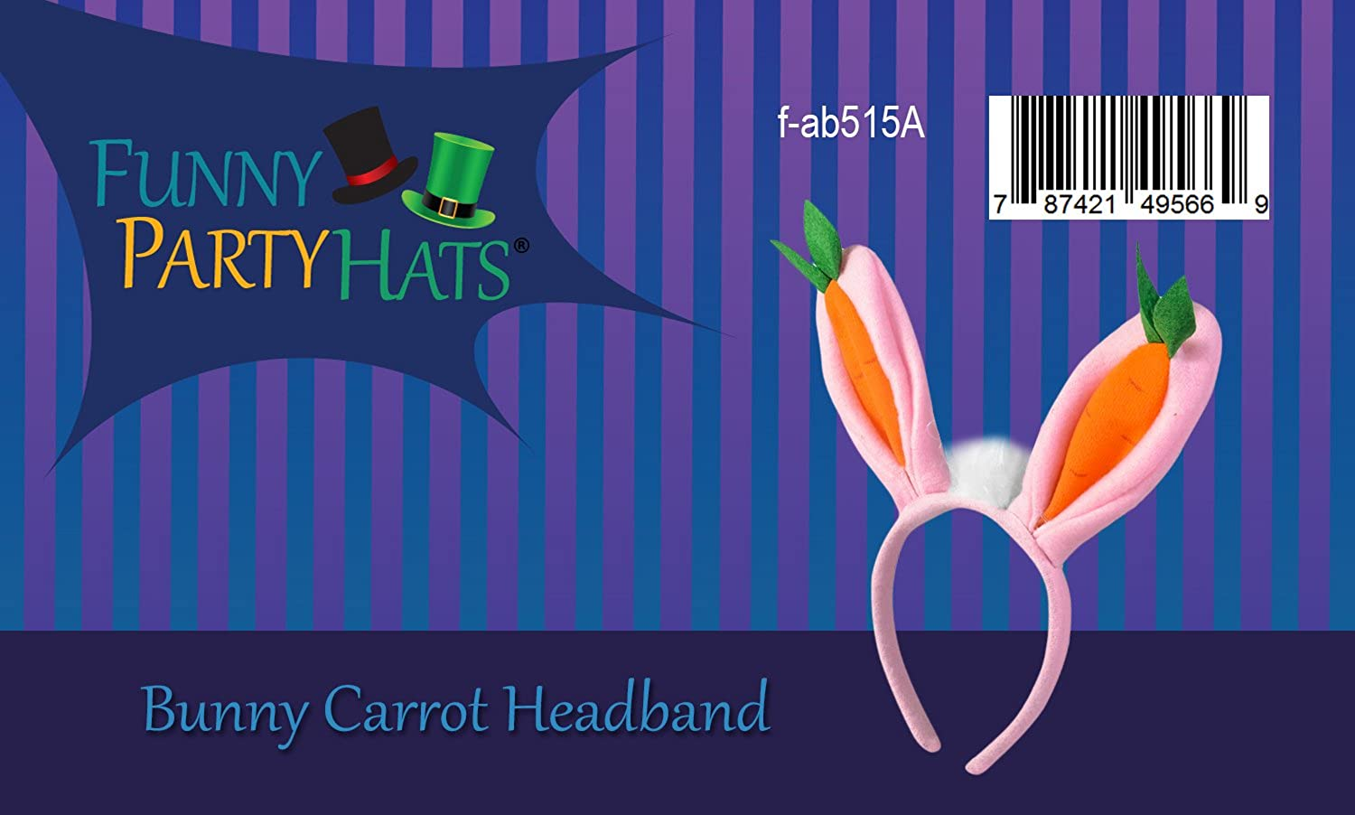 Amazon.com  Bunny Headband - Bunny Ears – Bopper Headbands - Carrot Bunny  Ears - Easter Bunny Ears by Funny Party Hats  Clothing 7595d3f2ae1a