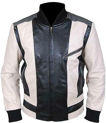 Men/'s Ferris Buellers Matthew Broderick Day Off Genuine Leather Jacket