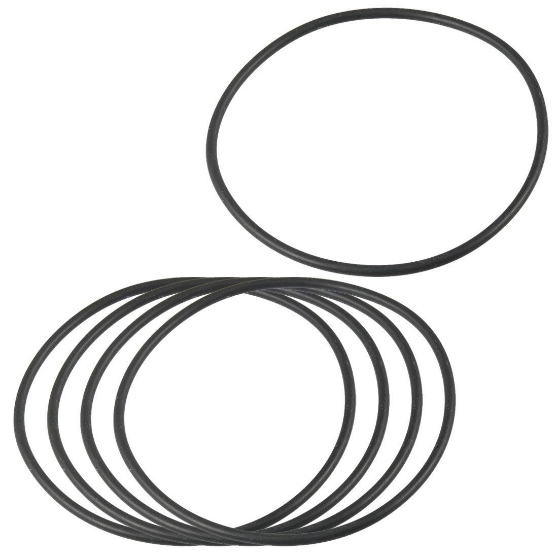 Sourcingmap a12092600ux0102-75mm x 2.4mm junta de goma flexible sellado arandela negro 5 piezas