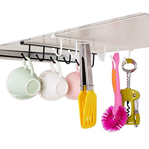 Polytherm Undershelf Baskets: Fashionbabies 5 Hooks Mug Holder Cup Hanger Under Shelf
