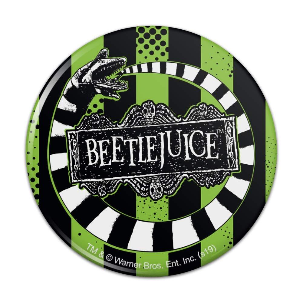 2.25 Diameter Beetlejuice Beetle Worm Pinback Button Pin Badge