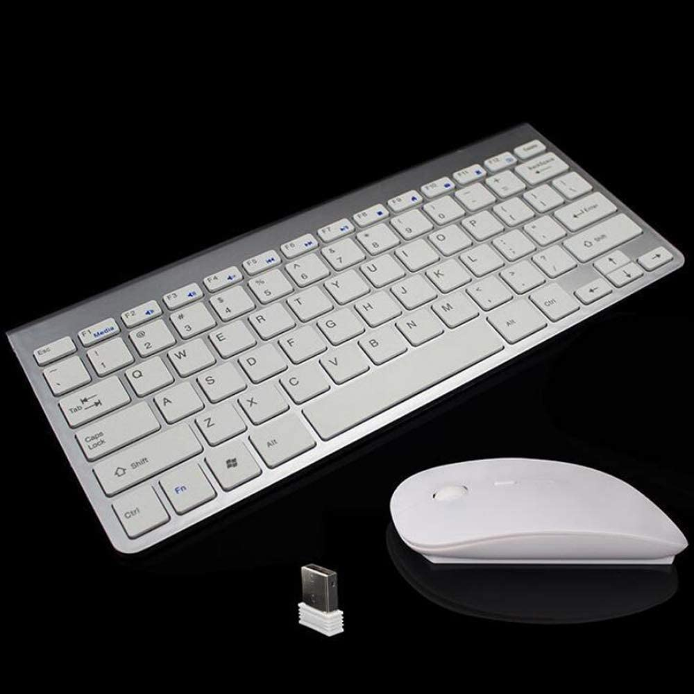 Unique Stylish Design Long Battery Life 2.4GHz Wireless Connection Wireless Keyboard and Mouse Combo