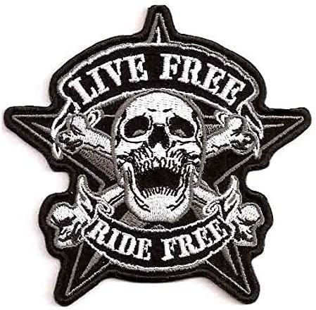 Live to Ride Biker life Iron//Sew on Embroidered Patch UK Seller
