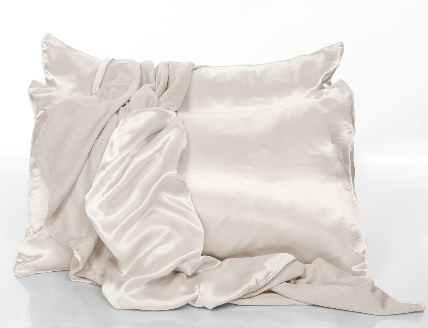 PJ Harlow Eggnog Satin King Pillowcases - Set of 2