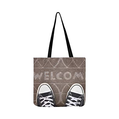 288896180eb Image Unavailable. Image not available for. Color  New Life Join A Church  Converse On Welcome Mat Canvas Tote Handbag ...