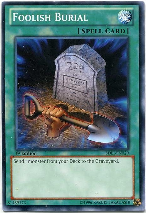 1st Ed NM Super Rare Yugioh Foolish Burial Goods DASA-EN058