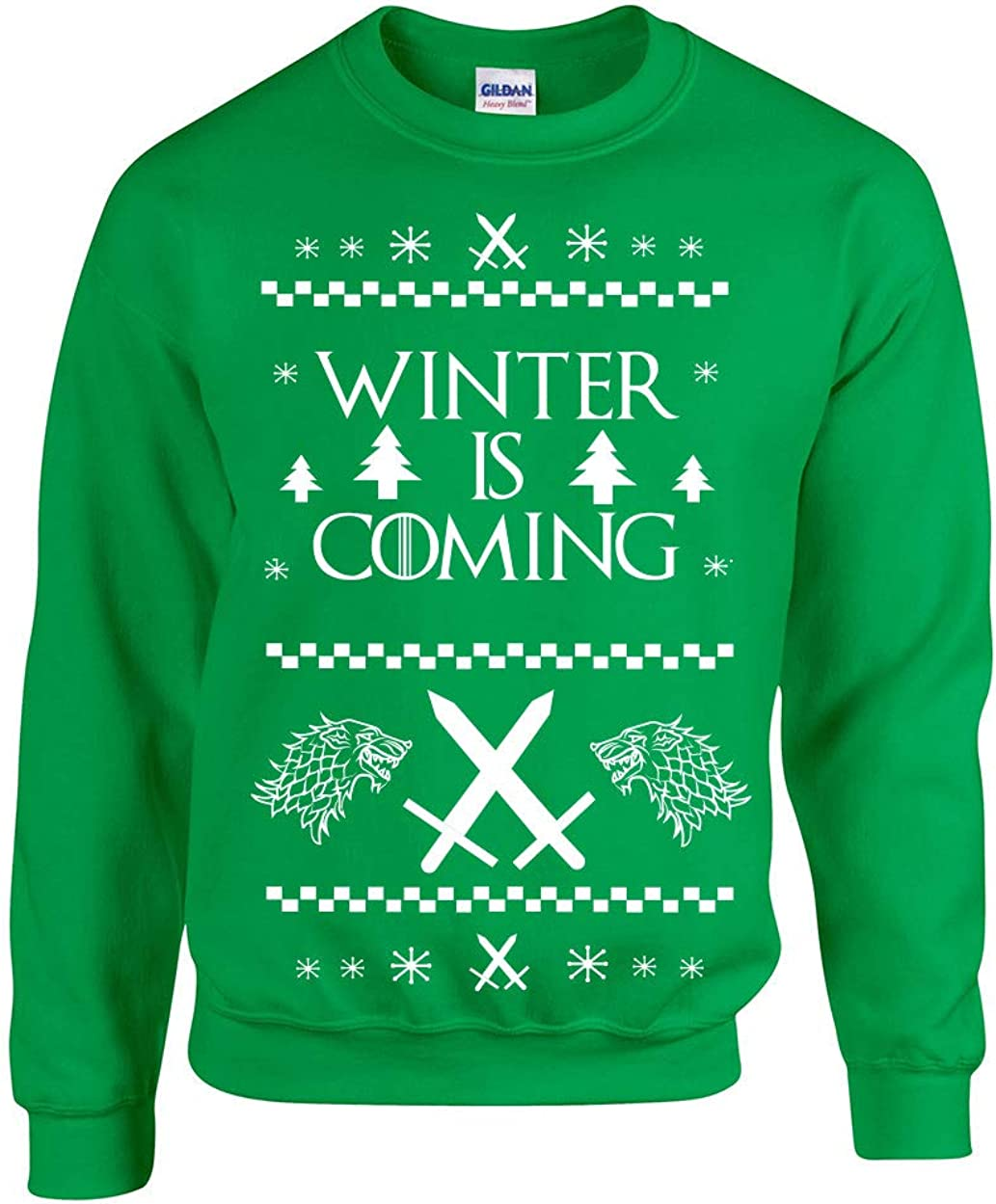 360 Winter Christmas Funny Adult Crew Sweatshirt