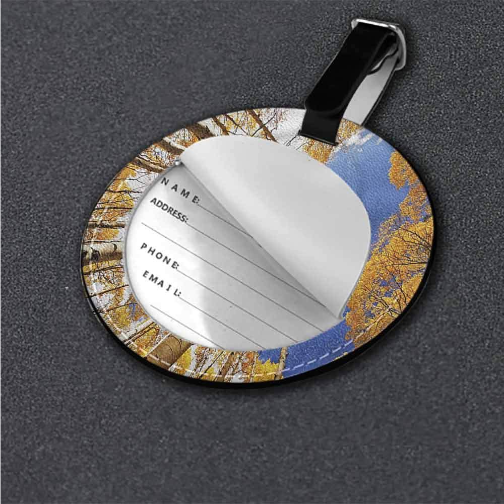 Boarding Tags Forest,Sunset Forest Trees Holder Travel Accessories