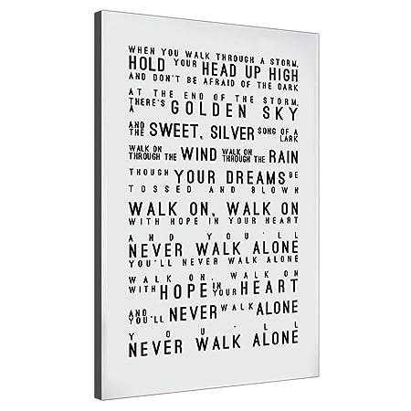 Karen Max Nunca Caminarás Solo Letras Cartel De Impresiones ...