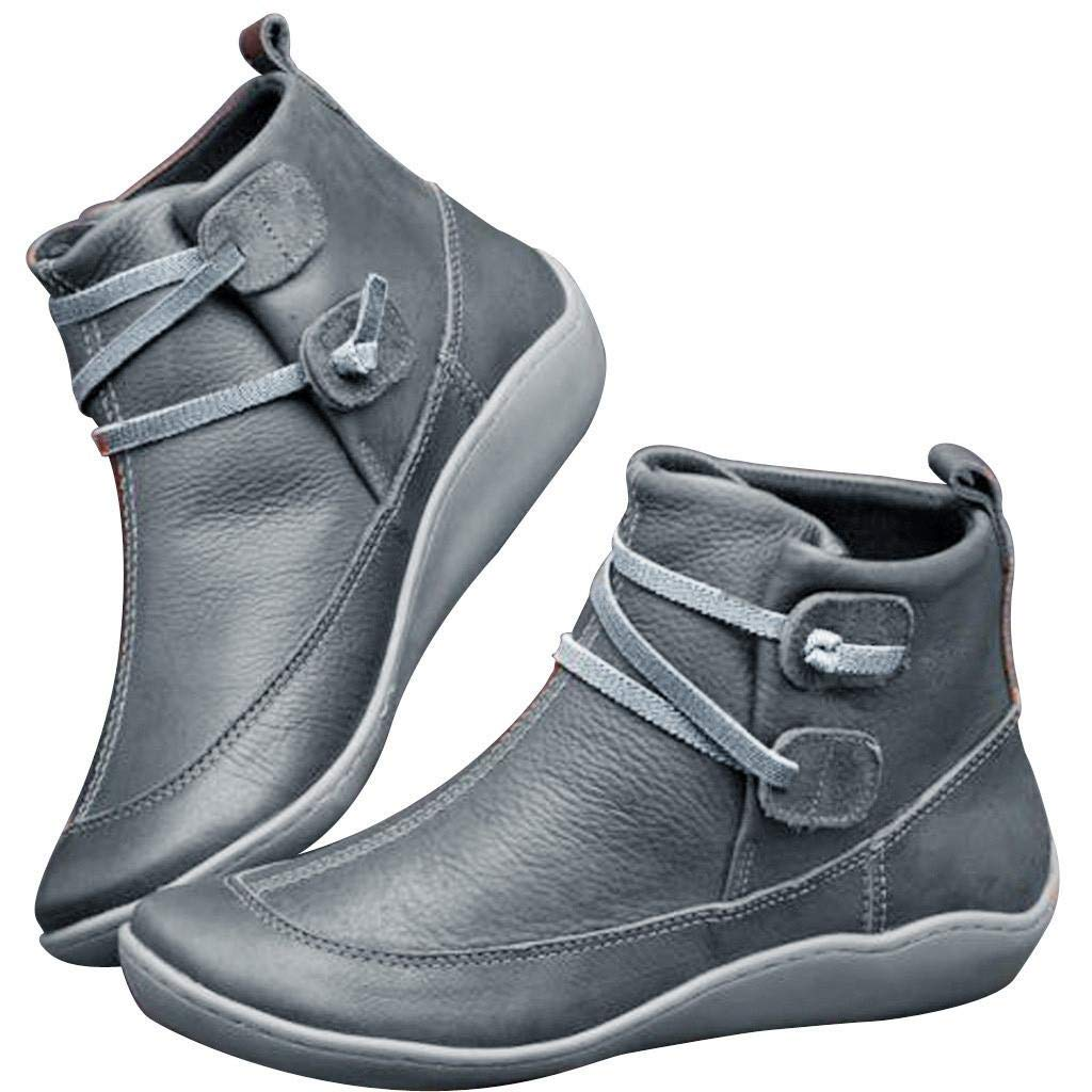 Leather Ankle Boots Comfortable Damping