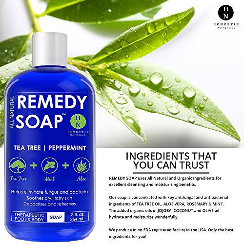 Remedy Wash Body Athlete's Ringworm, Itch, Infections Irritations. 100% with Tree Aloe