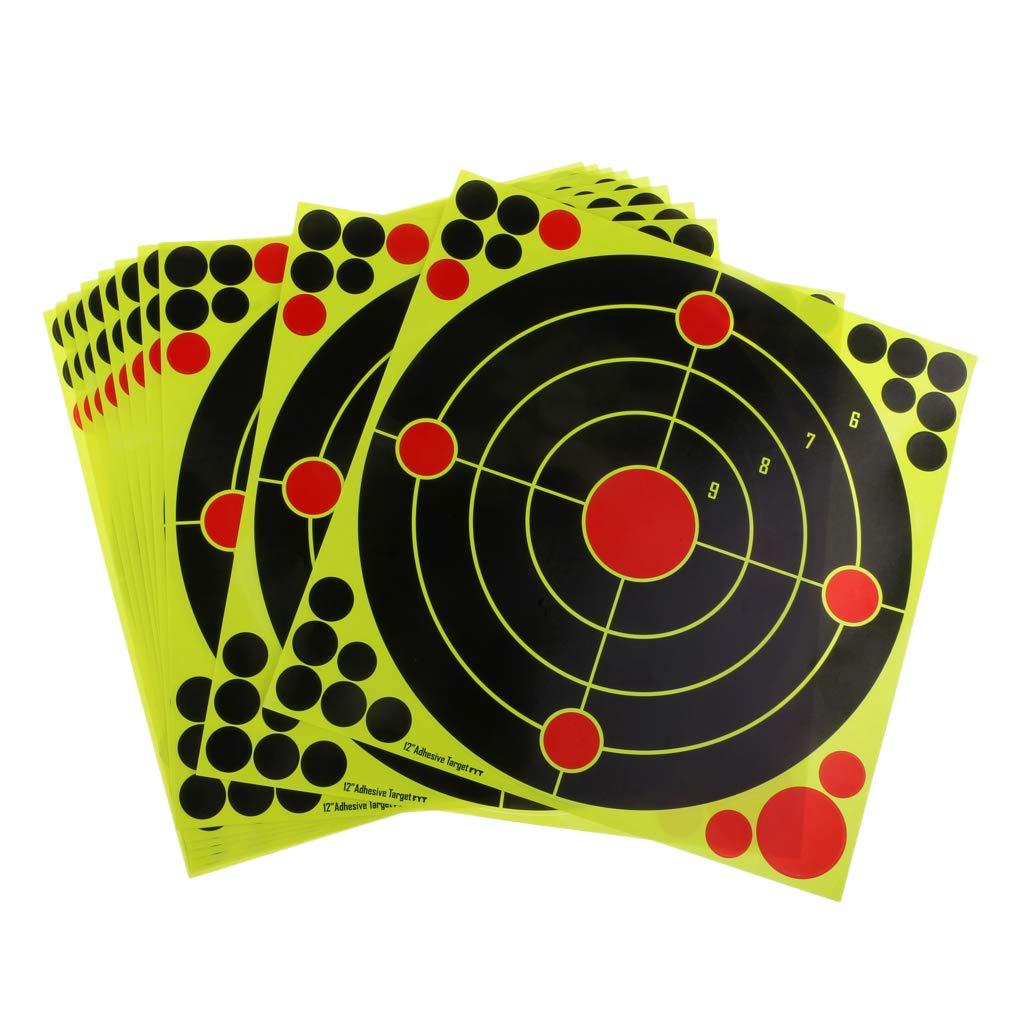 perfk 12x 12 Stick Splatter Reaktive Selbstklebende Schie/ßscheiben Aufkleber