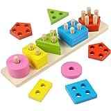 Lewo Giochi Costruzioni Blocchi Assortiti Puzzle Gioco Forme Incastri in Legno per Bambini