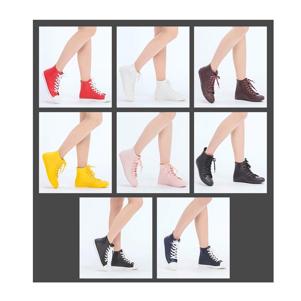 Zapatos Impermeables Botas De Lluvia for Mujer Zapatos De Goma Antideslizantes Alta Ayuda Botines Antideslizantes Zapatos De Pareja Botas De Lluvia Casuales