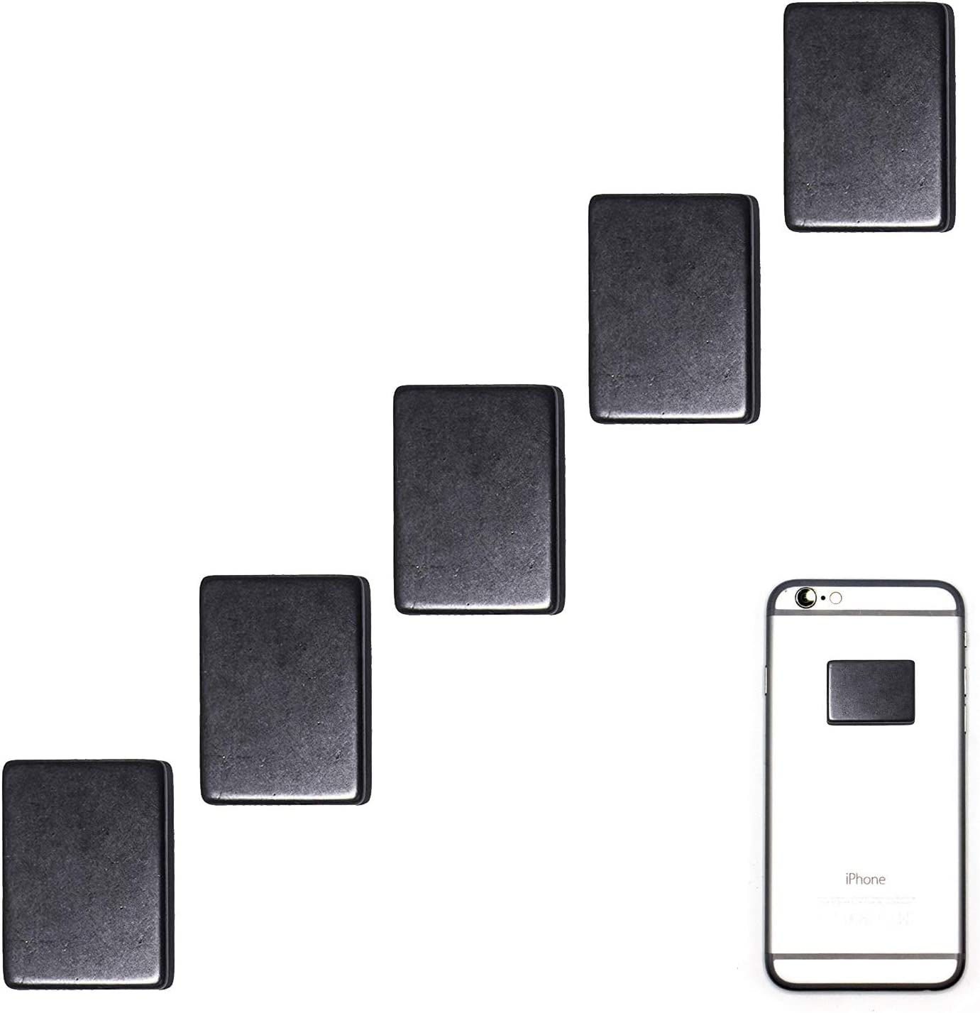 Radiation Protection for Cellphones/Laptop - Anti EMF/EMR Radiation Sticker - Radiation Shield Blocker - Set of 5 Polished Shungite Plate Sticker for Mobile Phone - Shungite Stickers for Cell Phone