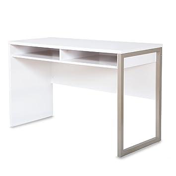 Amazon.com: Interface Desk – Sleek Metal Finish – Open Storage for ...